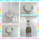 2018 Personalised Wine Glass Charm or Small Bottle Charm Any Name New Years Eve