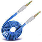 Gold Plated Jack To Jack Flat Aux Audio Cable For Apple Iphone 6S