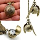 Hot Harry Potter Quidditch Wings Golden Snitch Pendant Necklace Gold & Silver US