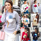 Women 3D ice cream Sweater Pullover Hoodies Sweatshirt Jumper Long Sleeve Tops