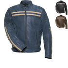 Black Cronus Leather Retro Motorcycle Jacket Motorbike Casual Bike GhostBikes