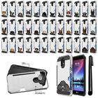 For LG Stylo 3 Plus Stylo 3 Stylus 3 Dog Design Brushed Hybrid Case Cover + Pen