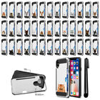 """For Apple iPhone X 5.8"""" Cat Design Brushed Hybrid Phone Case Cover + Pen"""