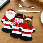 Christmas Xmas Party Snowman Cutlery Tableware Holder Fork Spoon Knife Bag Cover