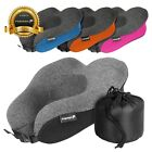 Travel - Fosmon Adjustable Strap Memory Foam Travel Neck Pillow Car Flight Soft Cushion