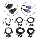 HDMI V1.4 Male To Male Cable w/ Mini/Micro HDMI Adapter Aluminum HD 3D For HDTV