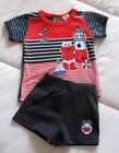 Baby Boys Cotton ~ Baby Elmo ~ Sesame Street 2 Piece Summer Outfit Set