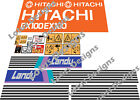 Hitachi EX100 -1 OR EX120 -1 Digger Stickers / Decals