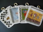Williamsburg Tavern potholders: Chowning's; Shield's; King's Arms; ...