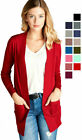 Внешний вид - Women's Cardigan Long Sleeve Open Front Draped Sweater Rib Banded w/ Pockets