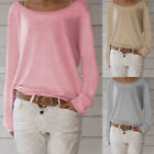Women Autumn Casual Long Sleeve Knit Pullover Sweater Jumper Tops T-shirts Tee