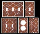 LIGHT SWITCH COVER PLATE REDDISH MOROCCAN PATTERN PRINT HOME DECOR