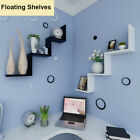 Floating W Shelves 1-3 PC Wall Mounted Shelf Display Storage