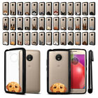 For Motorola Moto E4 XT1767 2017 (USA) Dog Design Black Bumper Case Cover + Pen