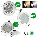 3/7/12W LED Ceiling Down Lights Slim fit Incl Transformer Gimbal Warm/Cool White