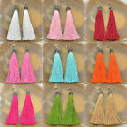 Fashion Charm Crystal Silk Tassel Rhinestone Cap Fringe Dangle Ear Stud Earrings