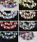 10pcs Glass Crystal Charm Flat Oval Spacer Loose Beads 20x16mm DIY Jewelry