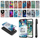 "For Apple iPhone 7 Plus /8 Plus 5.5"" Hybrid Bumper Protective Case Cover + Pen"