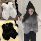UK Fashion Womens Slim Faux Fur Winter Warm Vest Gilet Outerwear Coat Outwear Y