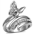 New Stainless Steel Butterfly Wrap Ring, Sizes 5-10