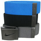 Nike Golf Men's 3-in-1 Web Pack Belts, One Size Fits Most