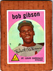 1959 Topps Bob Gibson St. Louis Cardinals Rookie High Series Number #514 NICE