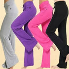 Women's Chic Soft Cotton Trousers Solid Yoga Gym Sports Athletic Long Pants Hot!