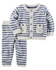 Carters Newborn 3 6 9 12 18 24 Months Knit Sweater & Pants Set Baby Boy Clothes