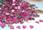 50 Hot Pink Acrylic Hearts Embellishments Wedding Invites Cards Favours Craft