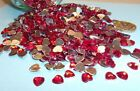 50 Red Acrylic Hearts Embellishments Wedding Invites Cards Favours Craft
