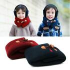 Casual Kids Soft Fall Winter Warm Wooden Buckle Scarf Neckerchief For B20E
