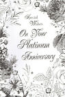"""on your PLATINUM wedding anniversary card 70th / 70 years - large 9"""" X 6"""" card"""