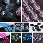 10~50pcs 16X10mm Teardrop Faceted Crystal Glass Loose Spacer Beads DIY Findings