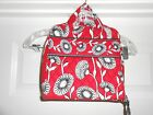 NWOT VERA BADLEY DECO DAISY RED BLACK WHITE HOUNDSTOOTH TRAVEL TECH CASE F/S!!!