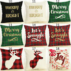 Merry Christmas Pillow Case Bed Waist Cushion Cover Cafe Home Decor Gift Rapture