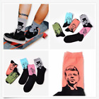 Useful Retro Women Men Funny Art Painting Cotton Crew Socks Long Ankle Socks