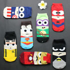 Summer Hero Cartoon Men's Casual Low Ankle Cotton Socks Boat Slippers Hot
