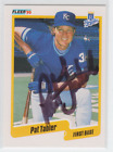 Autographed 1990 Fleer Pat Tabler - Royals