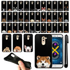 "For Huawei Honor 6X/ Mate 9 Lite 5.5"" Dog Design Black SILICONE Case Cover + Pen"