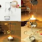 Xmas Deer Rotating Spinning Carrousel Tea Light Candle Holder Center Decor N98B