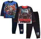 Boys Justice League Pyjamas Kids Superman Flash Long Pjs Kids 2 Piece Nightwear