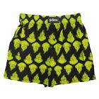 Dr. Seuss Mens Black The Grinch Christmas Holiday Boxer Shorts