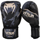 Venum Impact Hook and Loop Training Boxing Gloves - Dark Camo/Sand