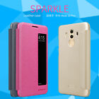 For HUAWEI Mate 10 Pro Nillkin PU Leather Flip Thin Smart View Window Cover Case