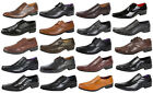 Mens Faux Leather Smart Formal Wedding Work Shoes Italian Design Gents Size