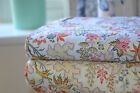 100% cotton floral fabric duck egg and cream offcuts metres fat quarters sewing