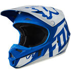 Fox Racing V1 Race MX Helmet Blue/White YOUTH Sizes