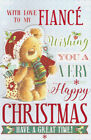 cute with love to my FIANCE for you large happy Christmas attachment card