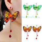 Fashion Bohemian Earrings Cloth Butterfly Fringe Boho Dangle Earrings Jewelry