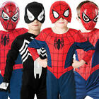 Spiderman + Mask Boys Fancy Dress Superhero Movie Childrens Kids Costumes Outfit